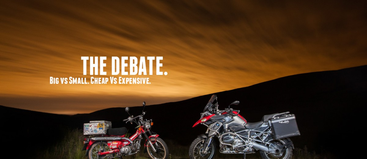 R 1200 GS vs CT 110 Postie Opener © Brake Magazine 2015