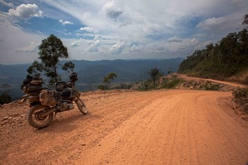 One of the roads leading through the kelabit Highlands